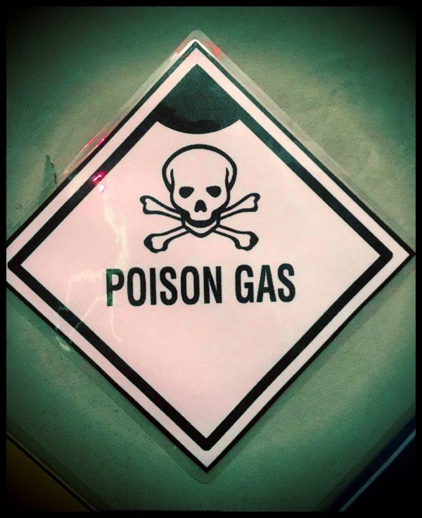 poison gas hazard sign image